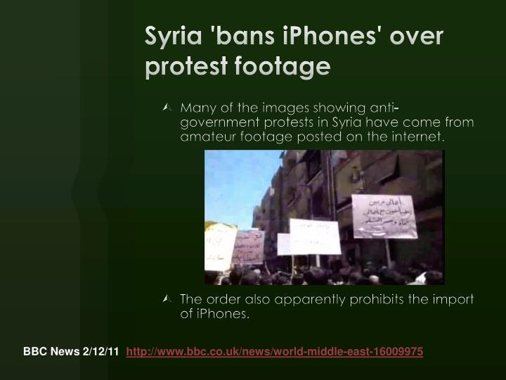Syria 'bans