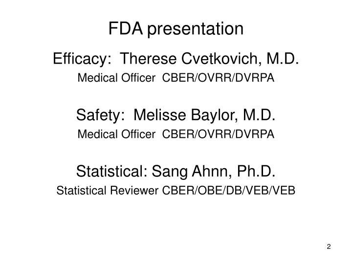 FDA presentation