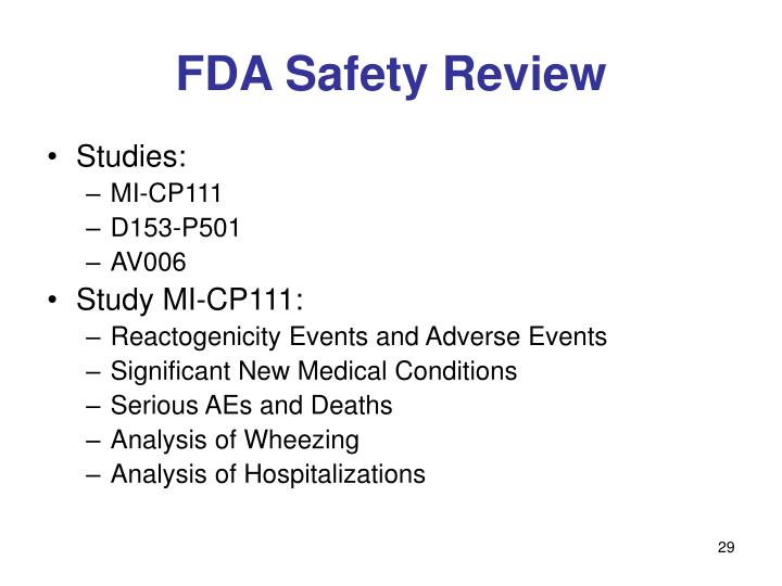 FDA Safety Review