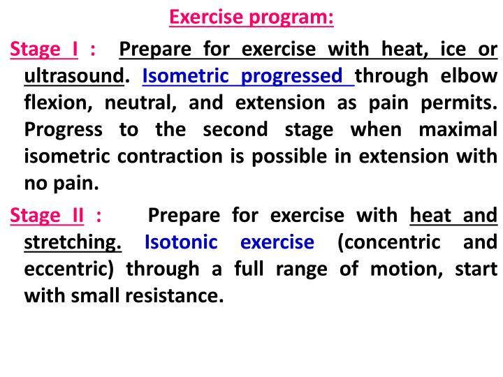 Exercise program: