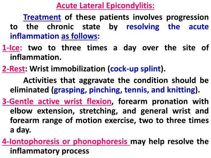 Acute Lateral Epicondylitis: