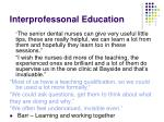 interprofessonal education