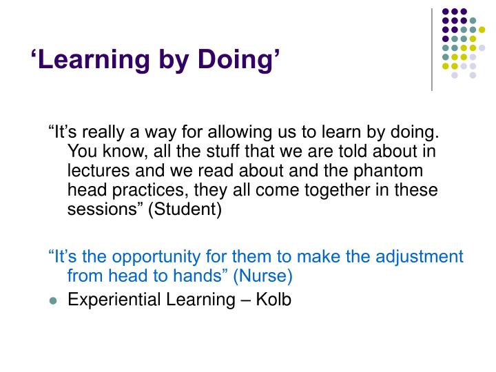'Learning by Doing'