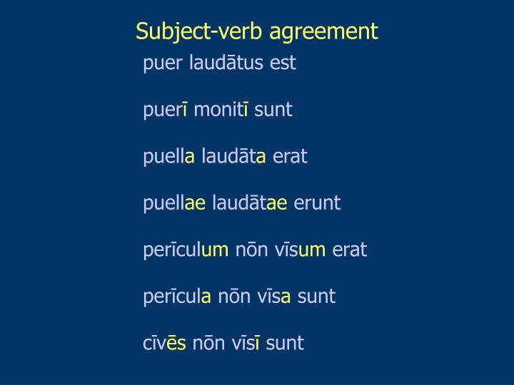Subject-verb agreement