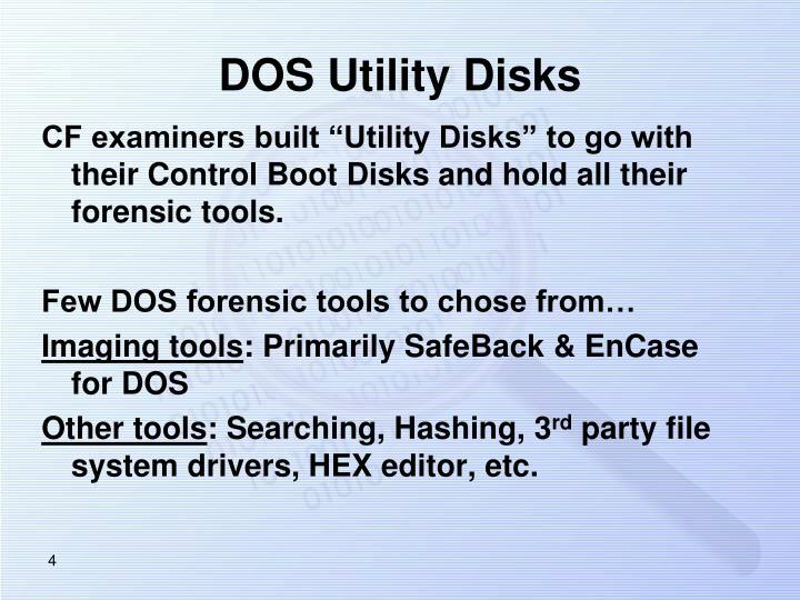 DOS Utility Disks