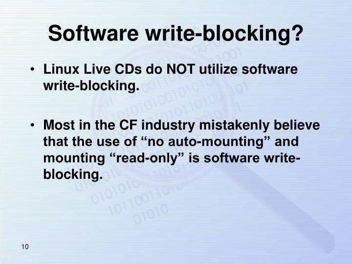 Software write-blocking?