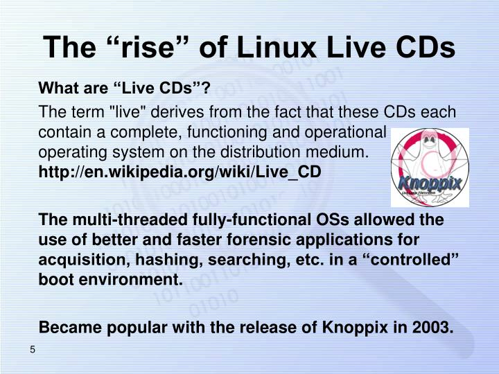 "The ""rise"" of Linux Live CDs"