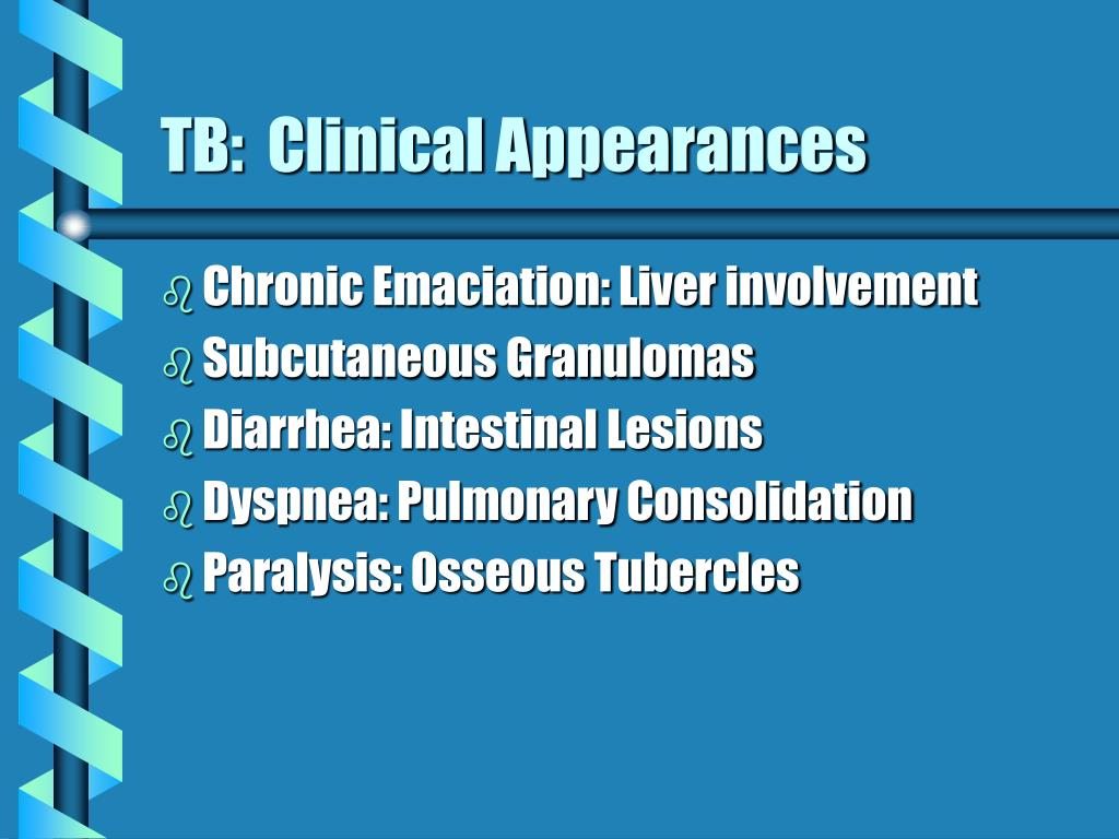 TB:  Clinical Appearances