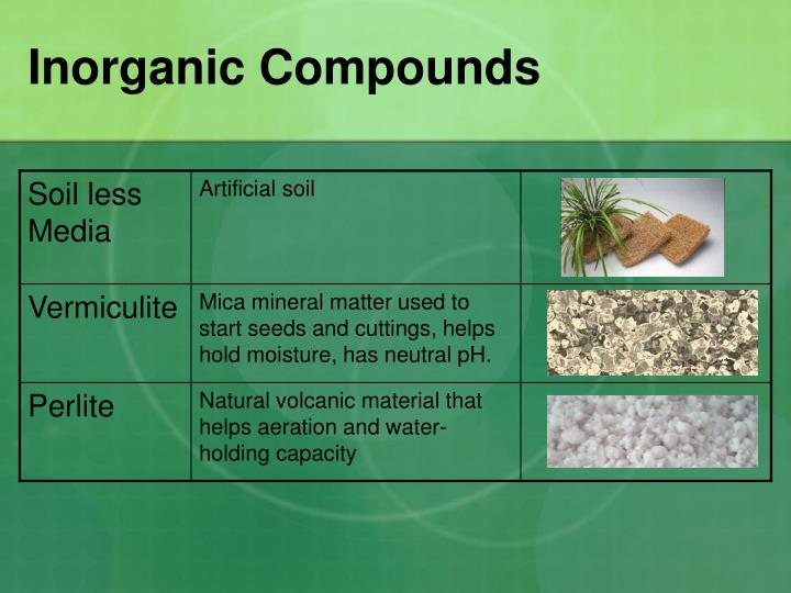 Ppt soil types and hydroponics materials powerpoint for What substances are in soil