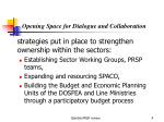 opening space for dialogue and collaboration