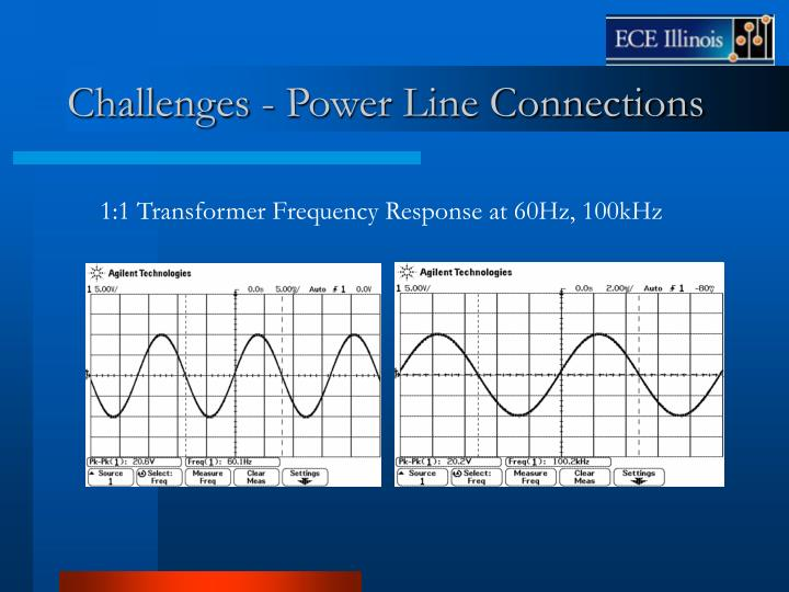 Challenges - Power Line Connections