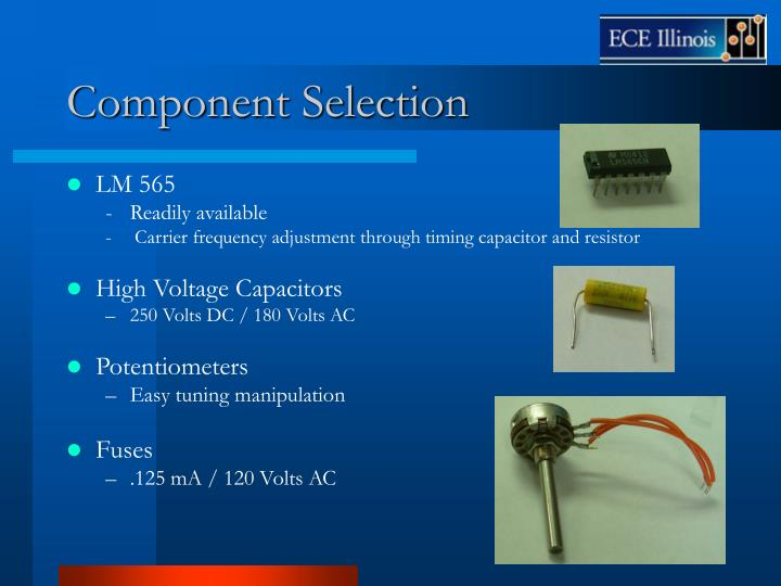 Component Selection