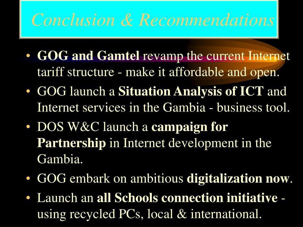 Conclusion & Recommendations