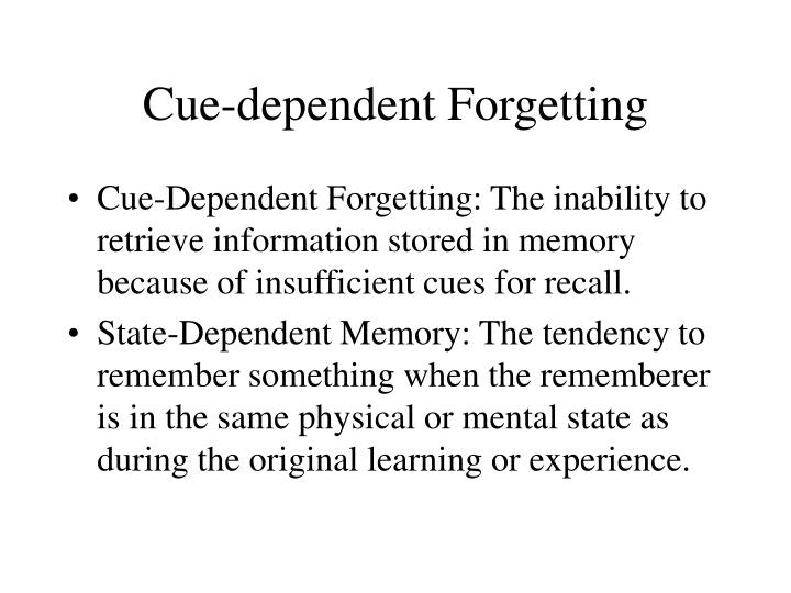 Cue-dependent Forgetting
