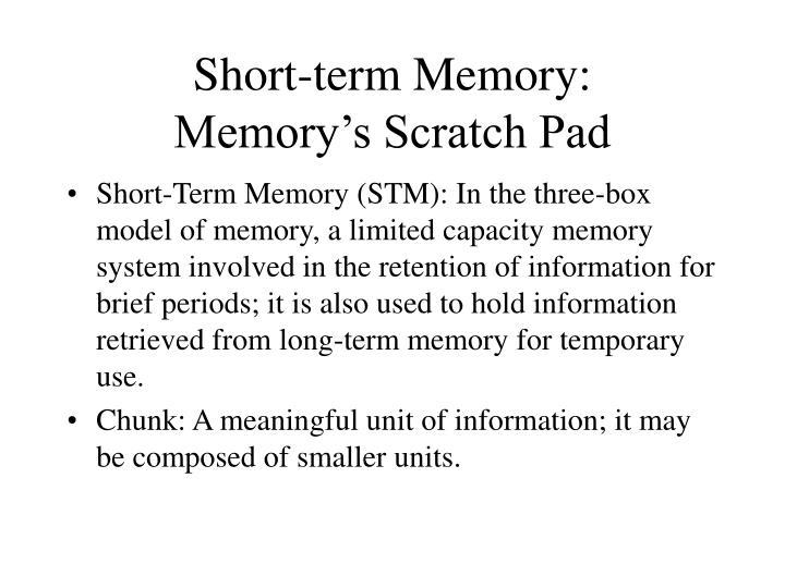 Short-term Memory: