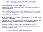 key new science we want to do