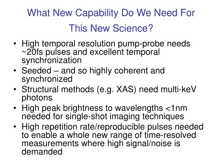 What New Capability Do We Need For