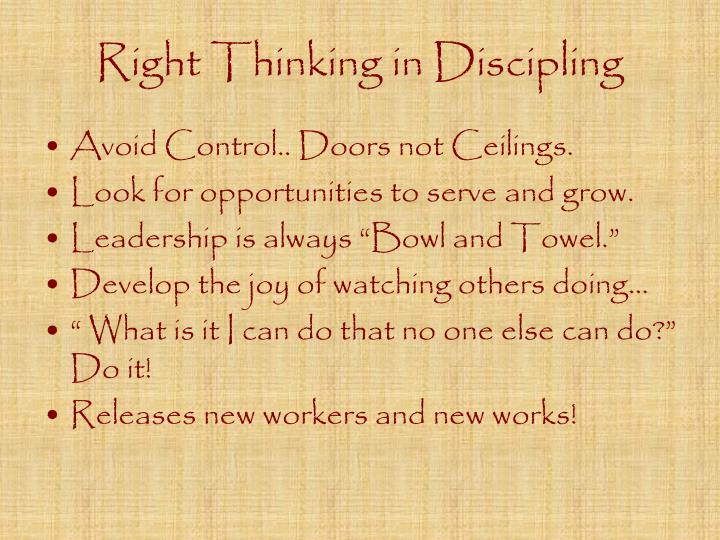 Right Thinking in Discipling