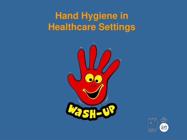 hand hygiene in healthcare settings