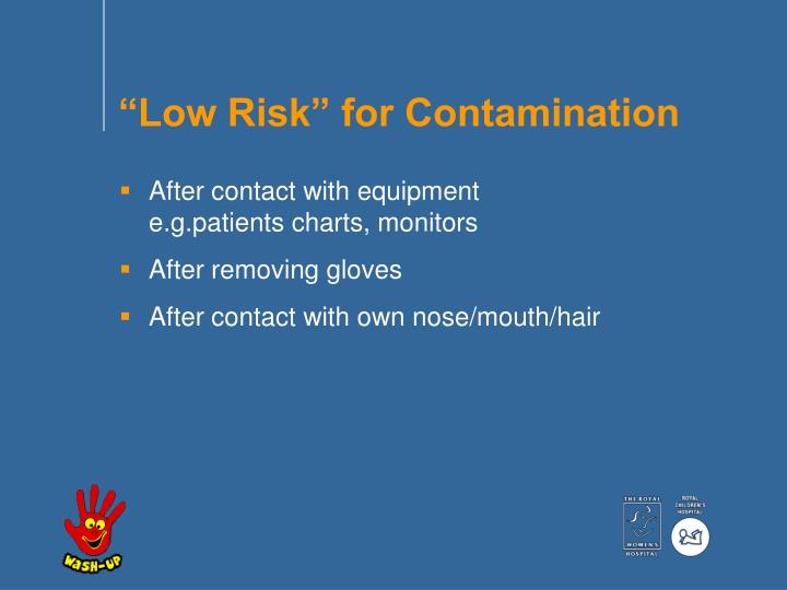"""Low Risk"" for Contamination"