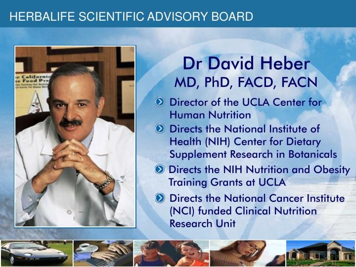 HERBALIFE SCIENTIFIC ADVISORY BOARD