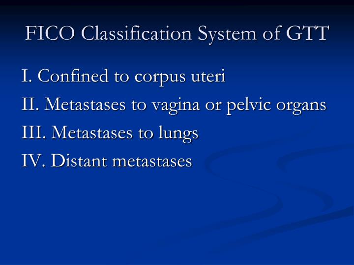 FICO Classification System of GTT