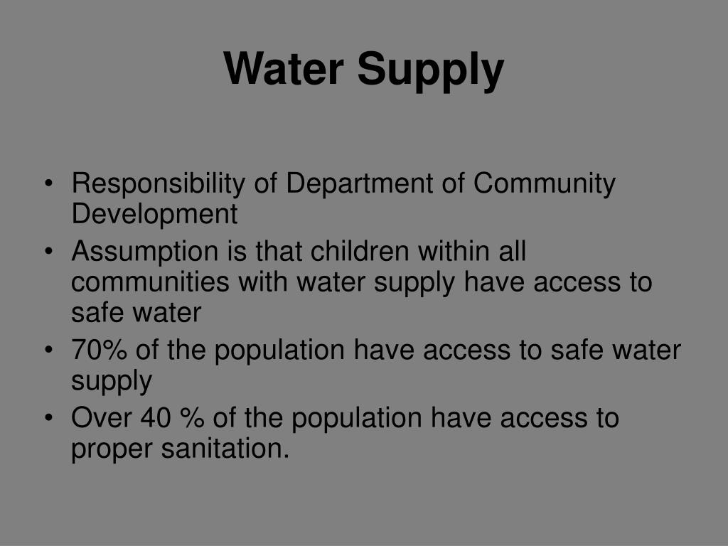 Water Supply