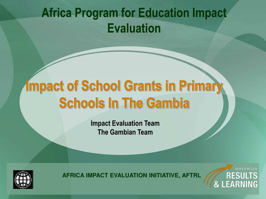 Africa Program for Education Impact Evaluation