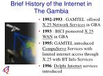 brief history of the internet in the gambia