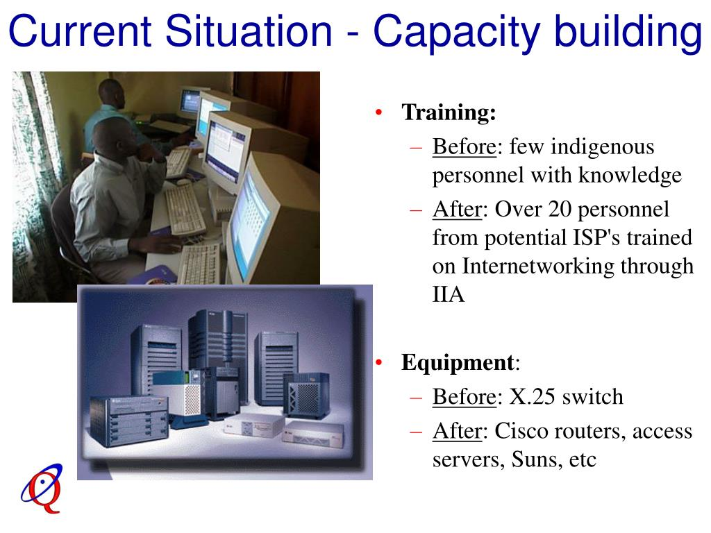Current Situation - Capacity building