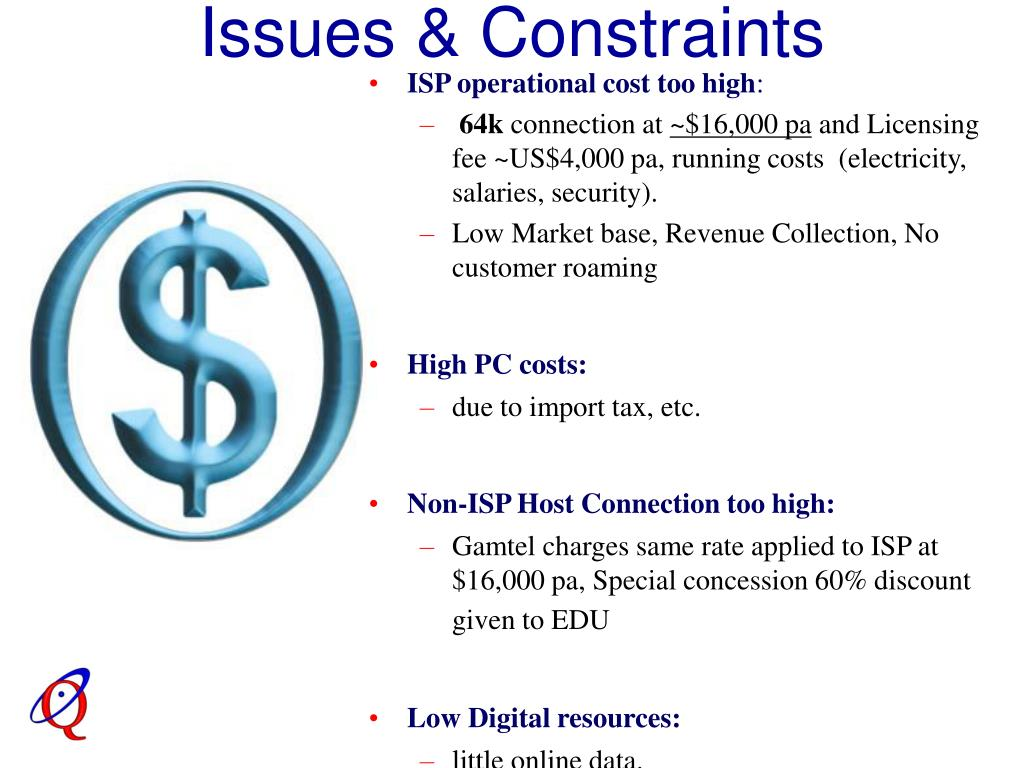 Issues & Constraints