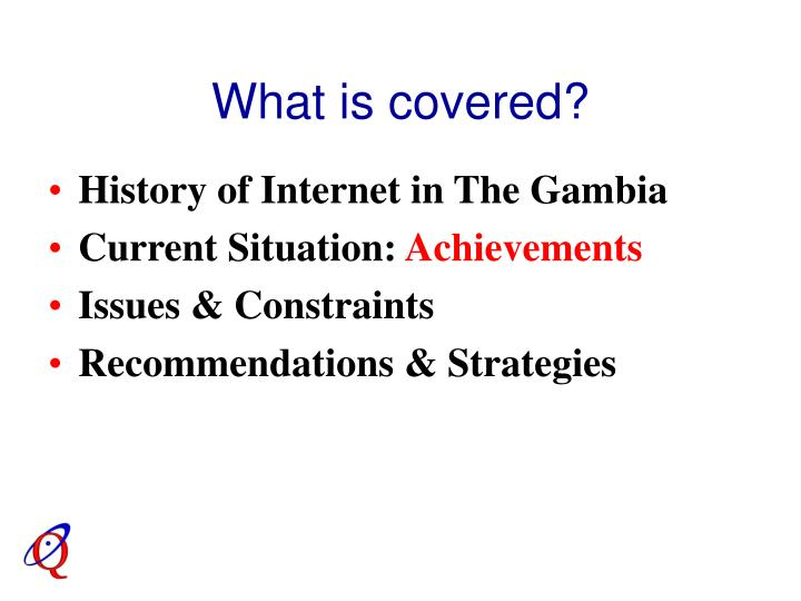 What is covered