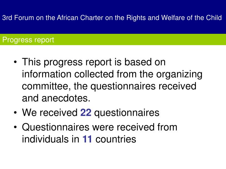 3rd forum on the african charter on the rights and welfare of the child
