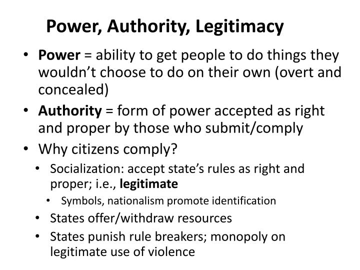 Power authority legitimacy essay