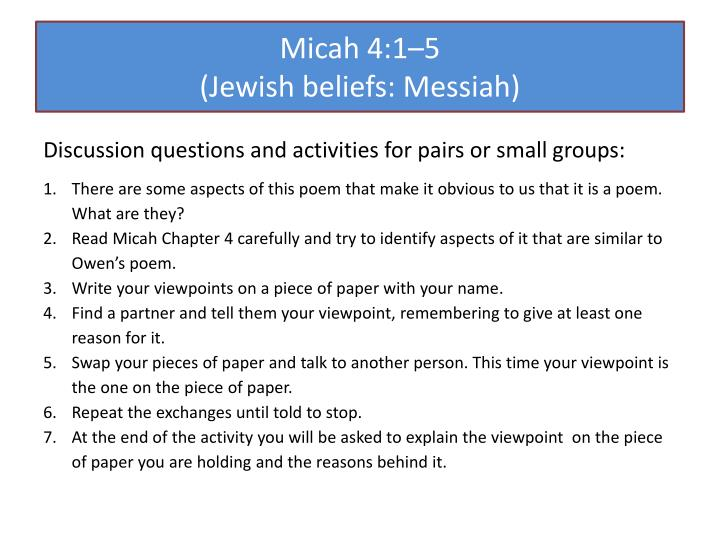 Micah 4:1