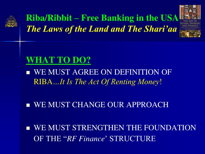 Riba/Ribbit – Free Banking in the USA