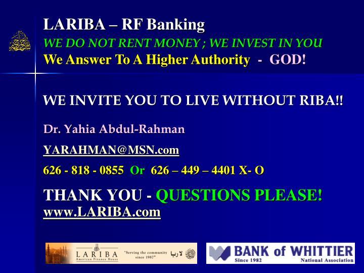 LARIBA – RF Banking