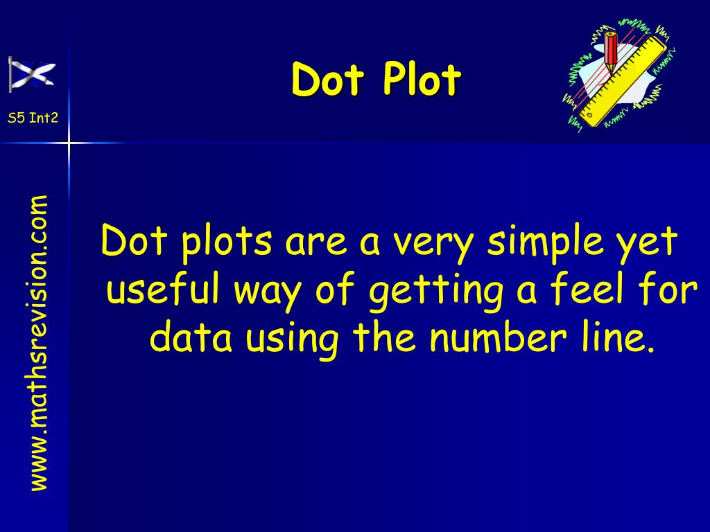 Dot plots are a very simple yet useful way of getting a feel for data using the number line.