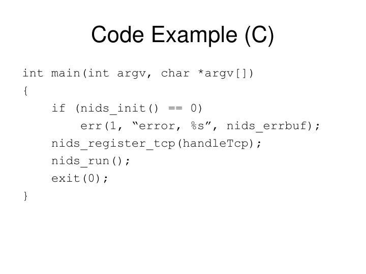 Code Example (C)