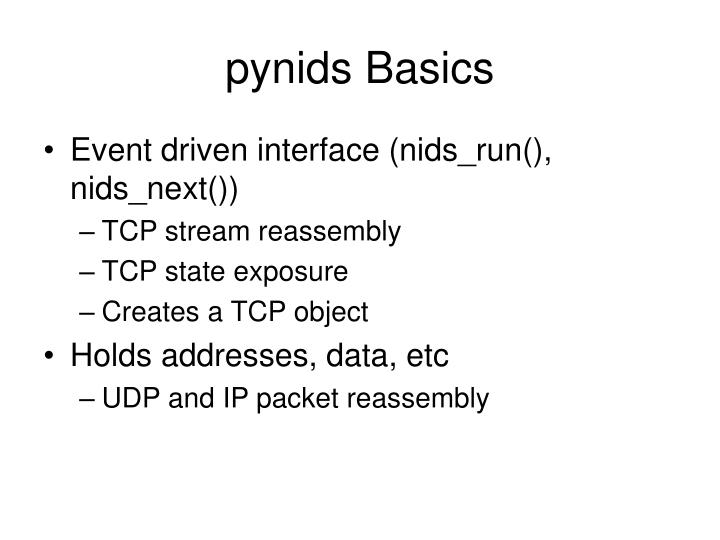 pynids Basics