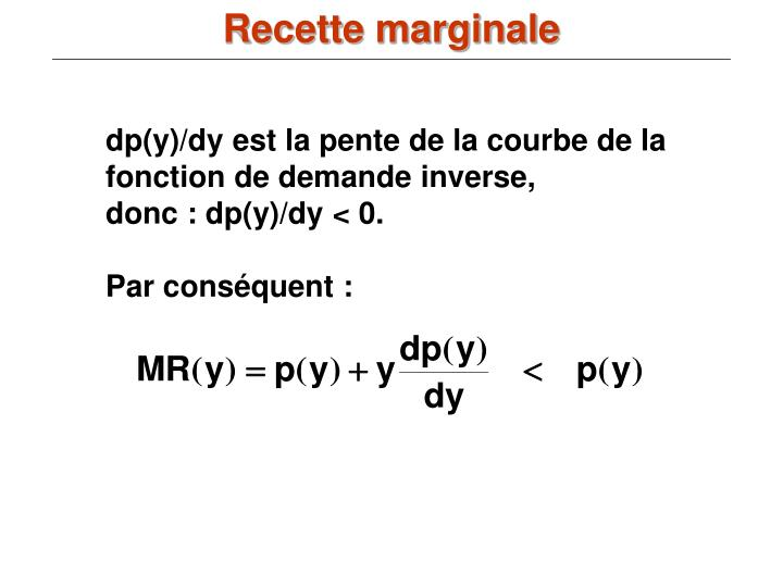 Recette marginale