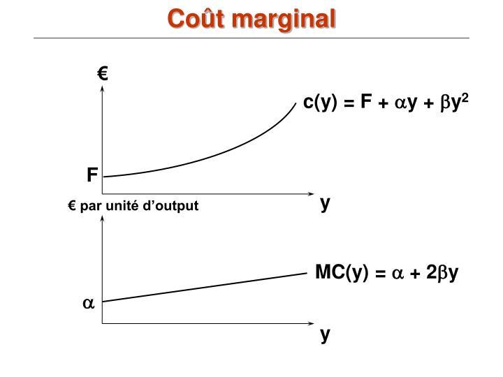 Coût marginal