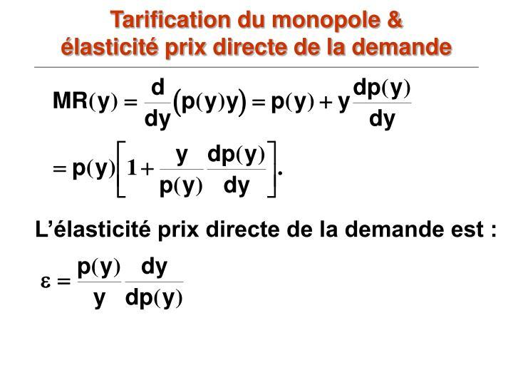Tarification du monopole &