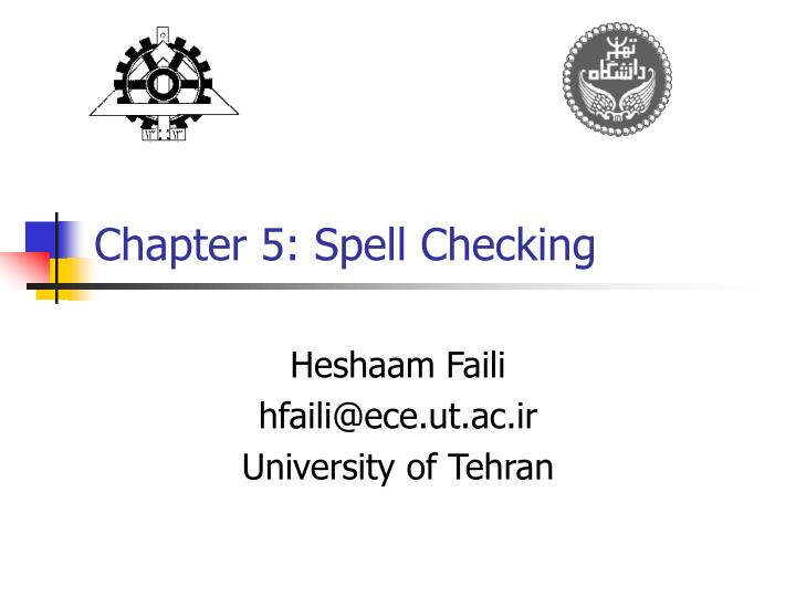 Chapter 5 spell checking