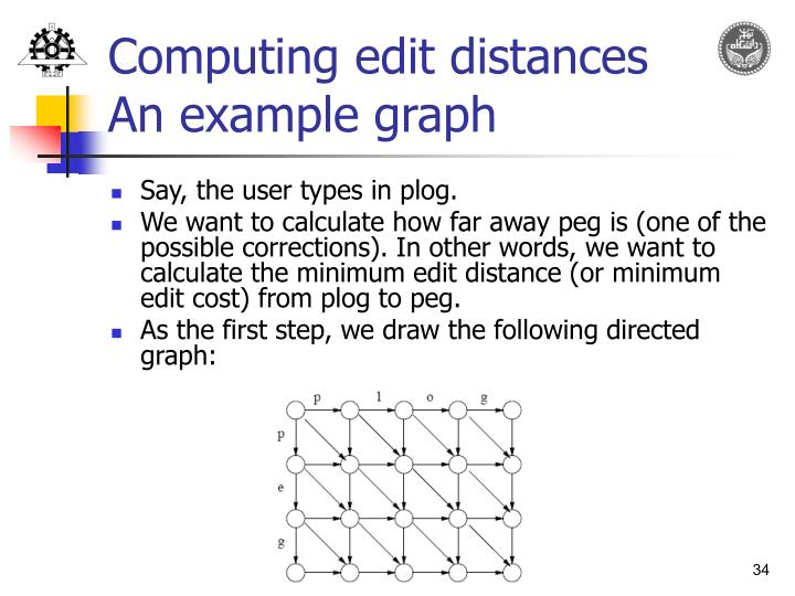 Computing edit distances