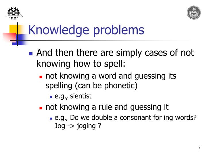 Knowledge problems