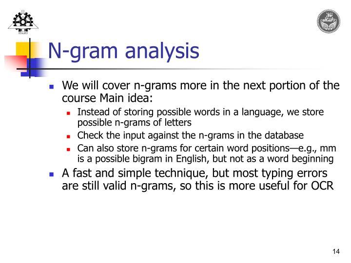 N-gram analysis