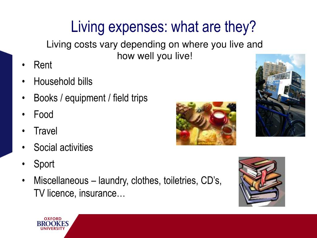 Living expenses: what are they?
