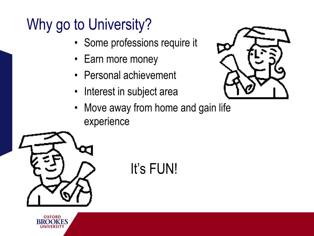 Why go to University?