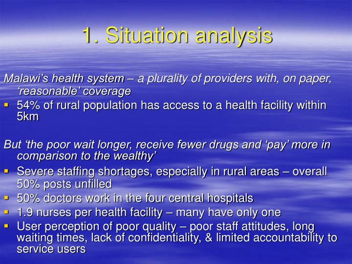 1. Situation analysis